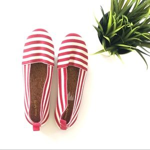 American Eagle red&white Stripe Shoes Size 7.5